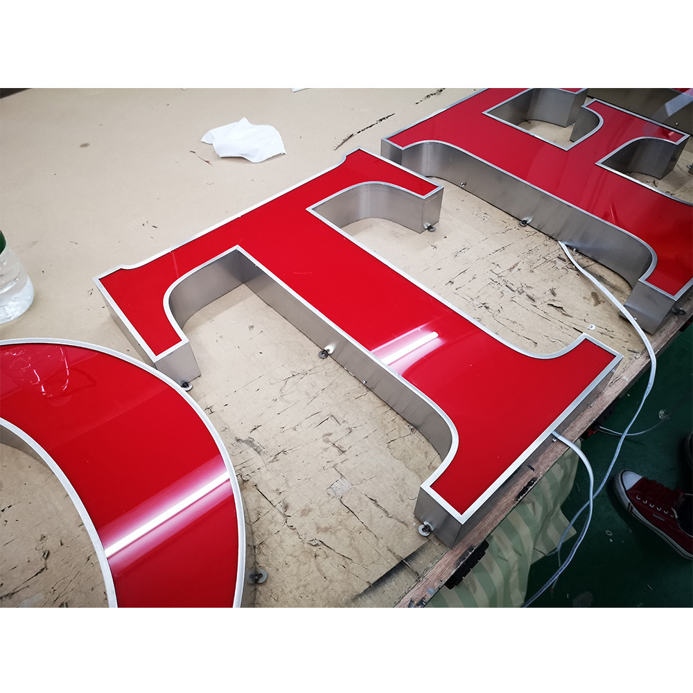 Manufacture Waterproof decoration outdoor indoor led sign large 3d electronic lighting letter sign