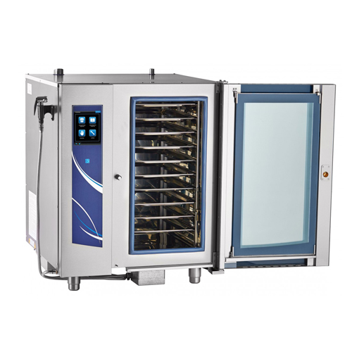 FURNOTEL 10 Tray Combi Steamer with Boiler (Touch Screen Type) Bakery Oven Self-Cleaning Function