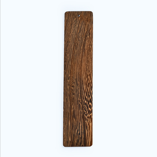 Natural different kinds of wood  bookmarks