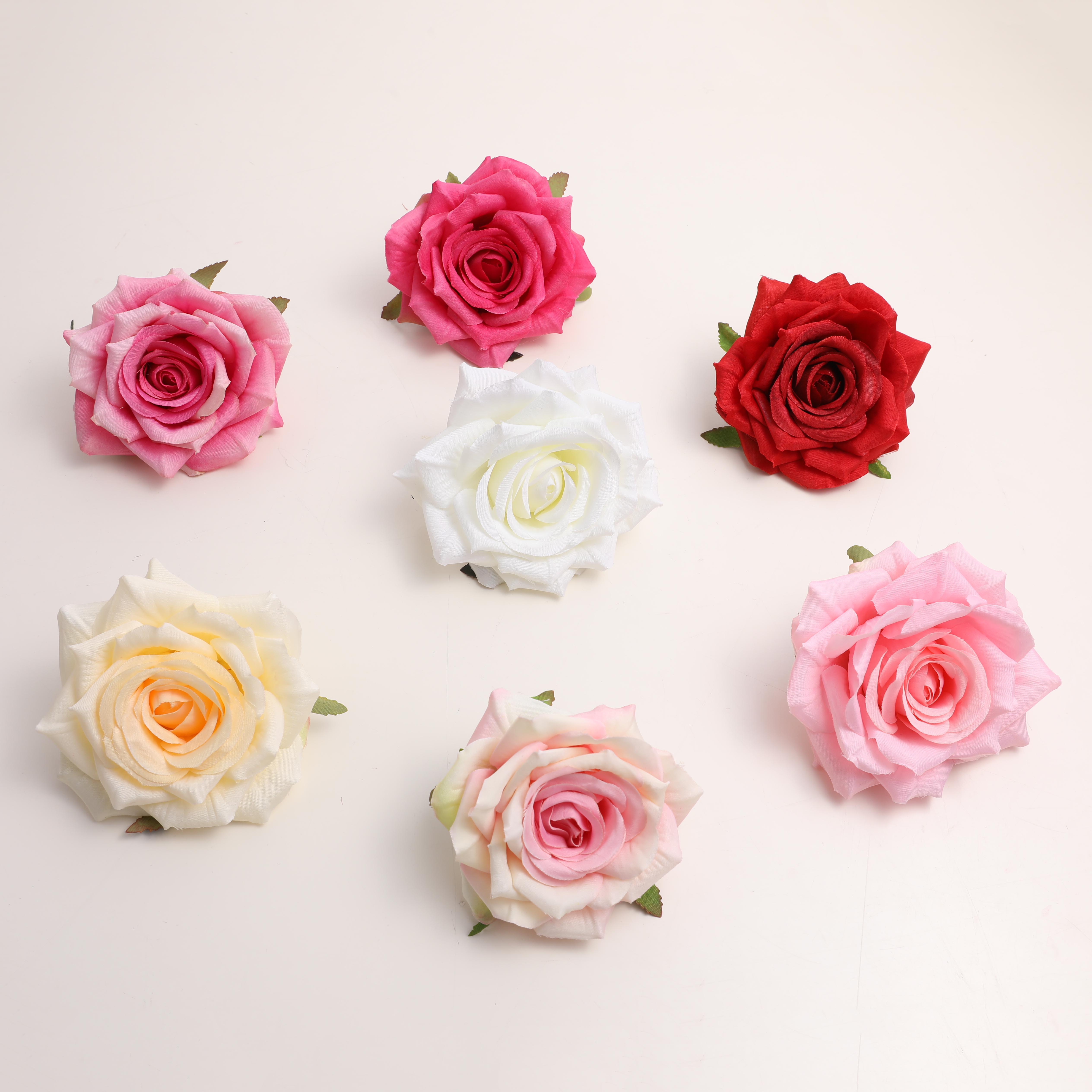 Wholesale Shenzhen jingrui artificial silk flower <strong>rose</strong> <strong>heads</strong> for wedding decoration