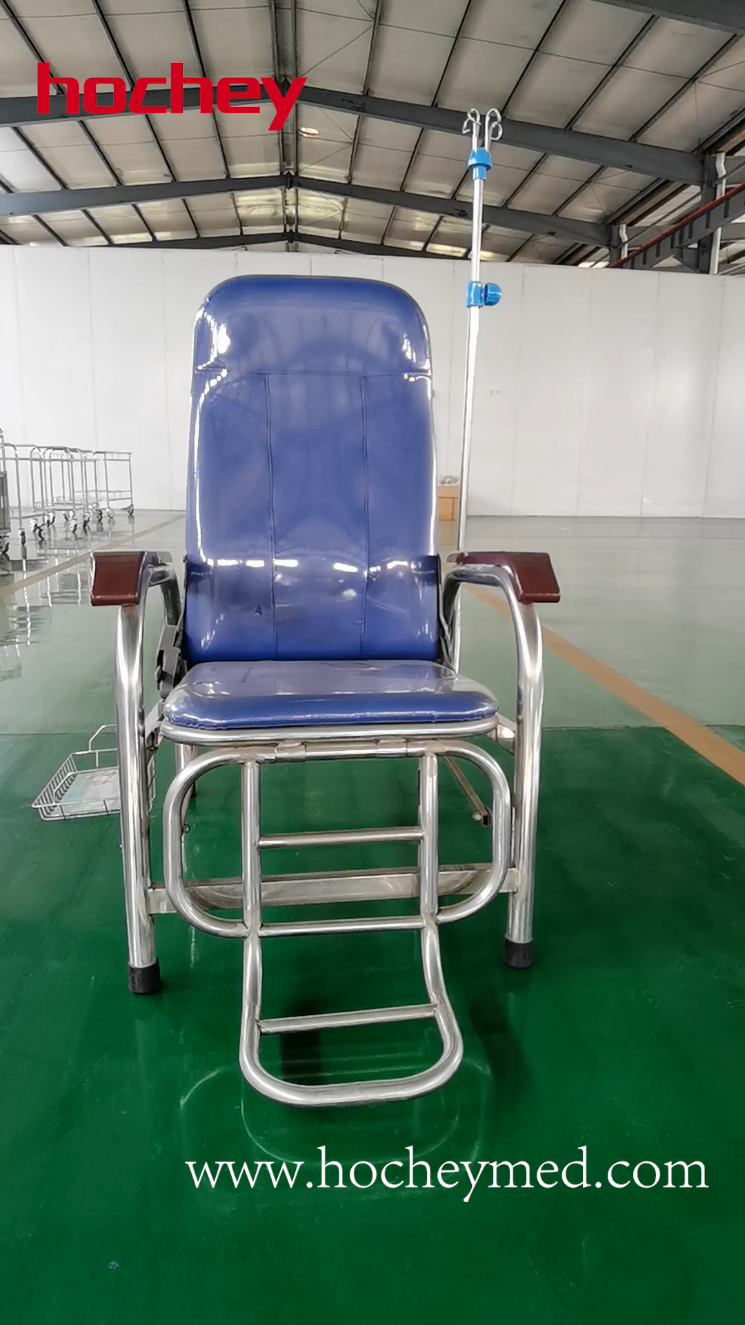 Hospital Furniture Patient Infusion Chairs Stainless Steel Medical Luxury Metal Free Spare Parts 1 YEAR