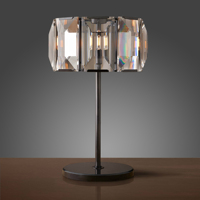Wholesale concise style black crystal table lamp
