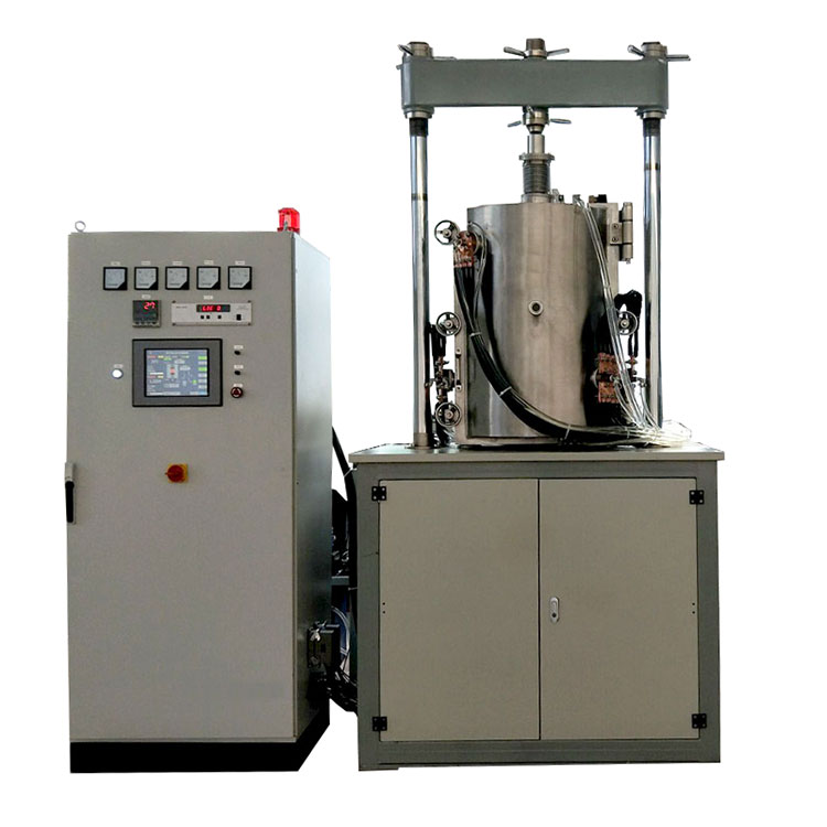 1650 celsius side opening vacuum molybdenum wire hot pressing furnace