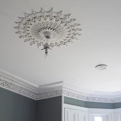 Plaster Gypsum Ceiling Medallion Lamp