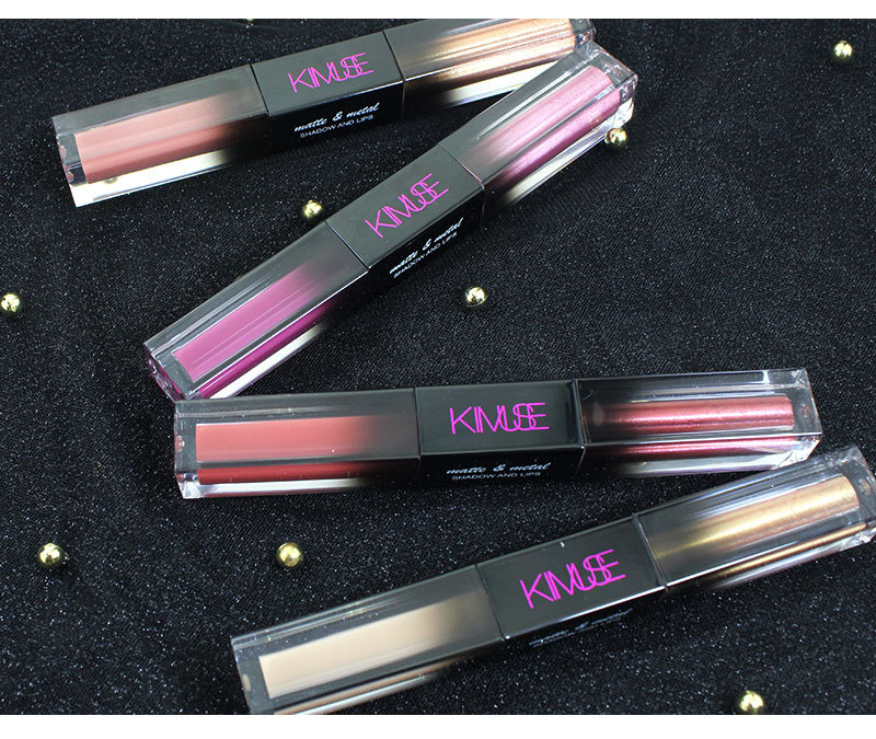 OEM KIMUSE matte & crystal diamond double head liquid eye shadow is not blooming monochromatic lipstick lip glaze multi-purpose