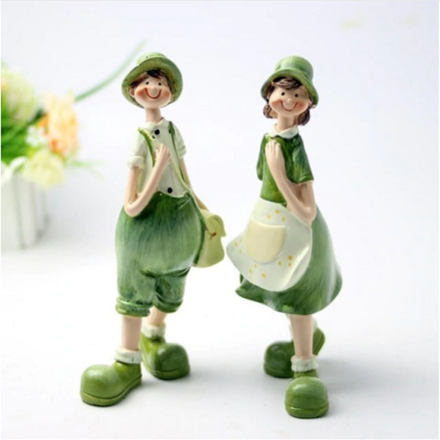 Romantic Couples Figurines Fairy Creative Gifts Beautiful Resin Ornaments