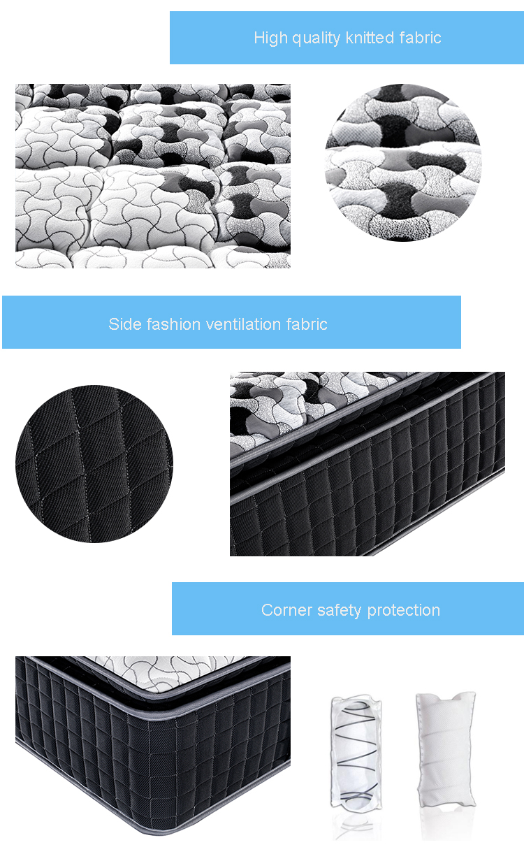 36cm 3zone comfortable foam pocket spring bed mattresses