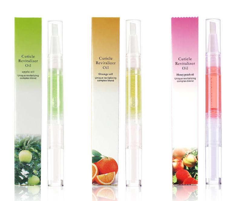 Custom Private Label Beauty Personal Care Nail Cuticle Nourishment Revitalizer Oil 15 Styles Nail Exfoliator Remover Brush Pen
