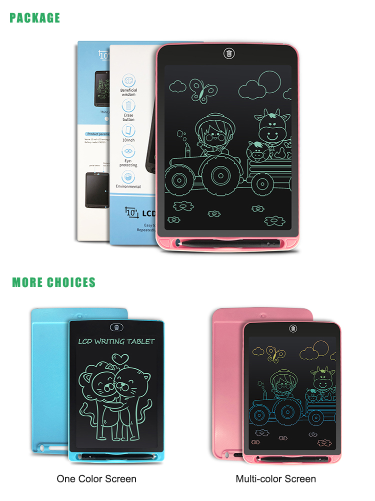 NEWYES 10 Inch Paperless Digital Notepad Electronic Sketch Board Kids Lcd Writing Tablet