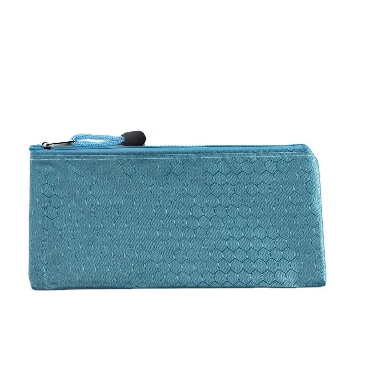 Cheap A6 school custom print small canvas doucment pen case zipper pencil bag