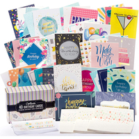 Custom assorted designs bulk premium set of 40 baby cards, birthday greeting cards
