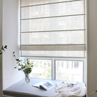 CITYINCITY Solid roman blind Faux linen curtain For living room japan style roman blinds roller for Kitchen window Customized