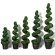 Cheap Artificial Green Boxwood Artificial Spiral Bonsai Tree Christmas Wedding Decoration Trees For Sale