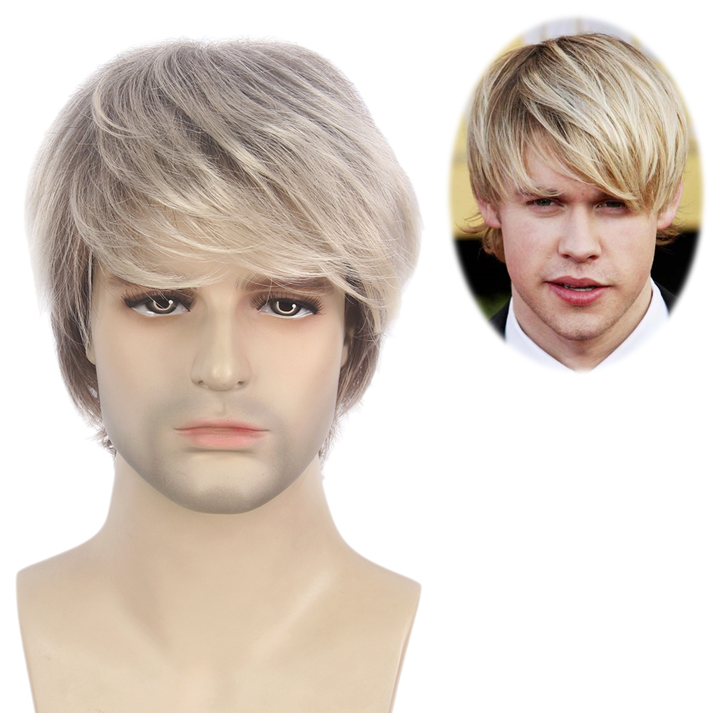ST Fantasy high quality <strong>synthetic</strong> <strong>wigs</strong> short men <strong>wigs</strong> undetectable mens <strong>wigs</strong>