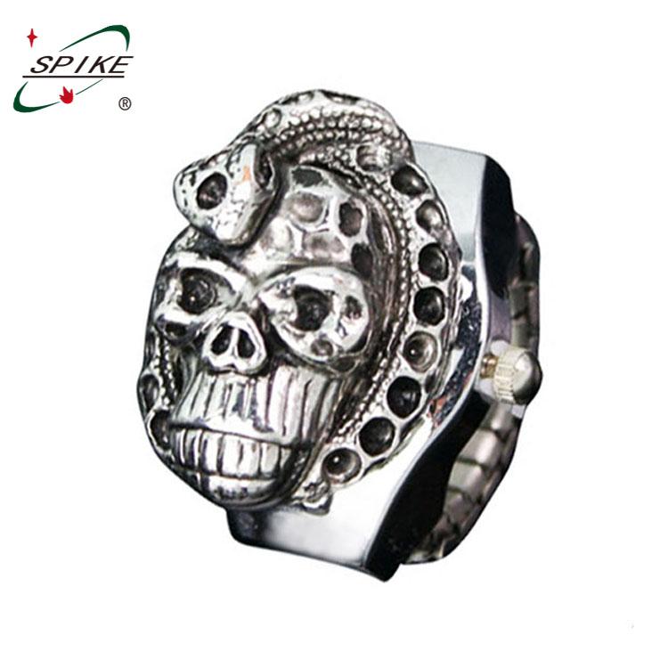 Men's decorative ring watch male skull rings