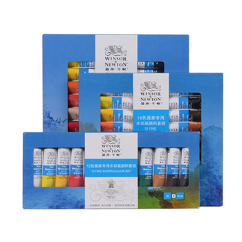 Winsor & Newton 12/18/24 colours 10ml artist professional aluminium tube watercolor paint set