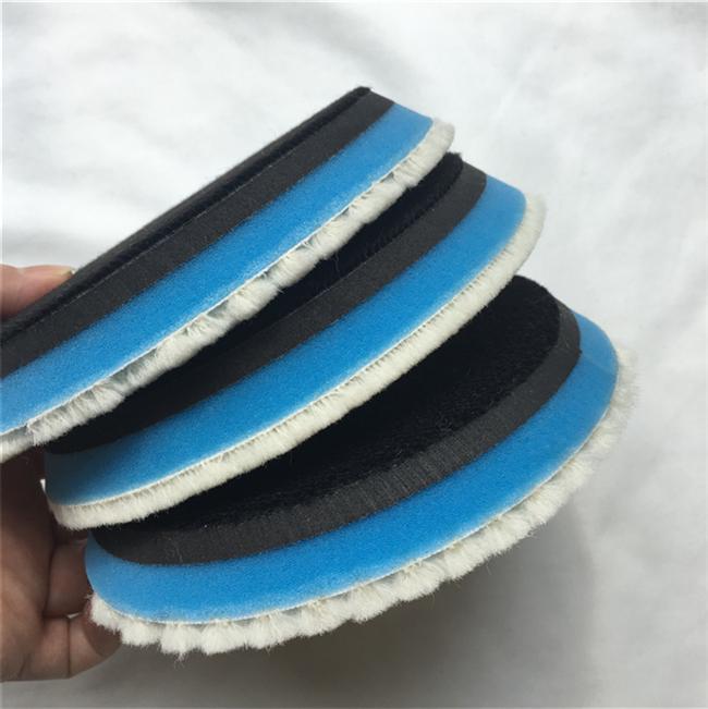 Aggressive wool hard backing 5 inch car care japan polishing pad buffing pad