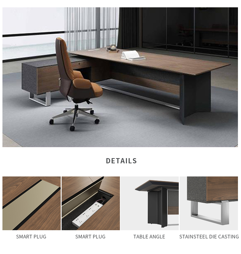 2019 Sunshine Luxury Computer CEO Executive Modern Wooden  Office Desk Furniture