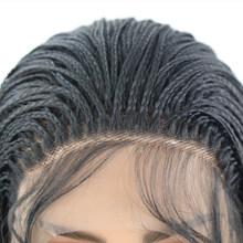RONGDUOYI Ombre коричневый плетеный ящик косички парики для женщин длинные термостойкие синтетические волосы передний парик средняя часть кружев...(Китай)