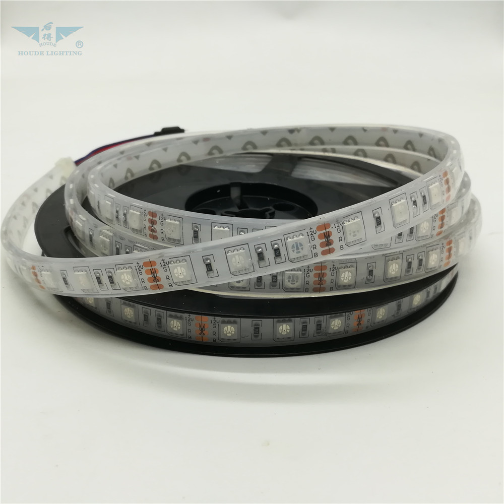 12V IP67 Silicone Tube <strong>Covering</strong> Waterproof 5050 SMD RGB Waterproof Flexible Light Strips With Remote Controller