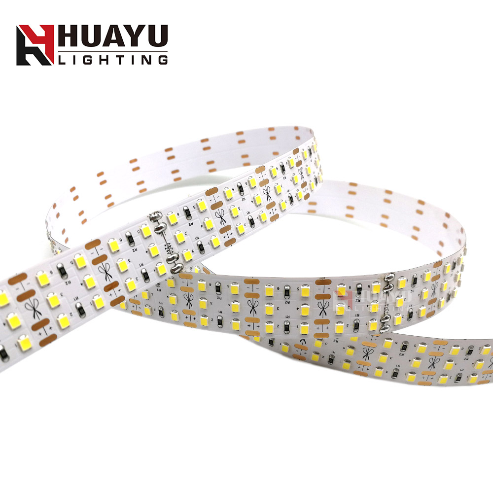 triple rows super bright 24v led strip 2835 264leds three line flexible led strip light