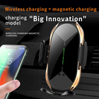 Car Wireless Car Charger Vent Mount Automatic Clamping 10W/7.5W Fast Charging Air Vent Car Holder Fast Wireless Charger