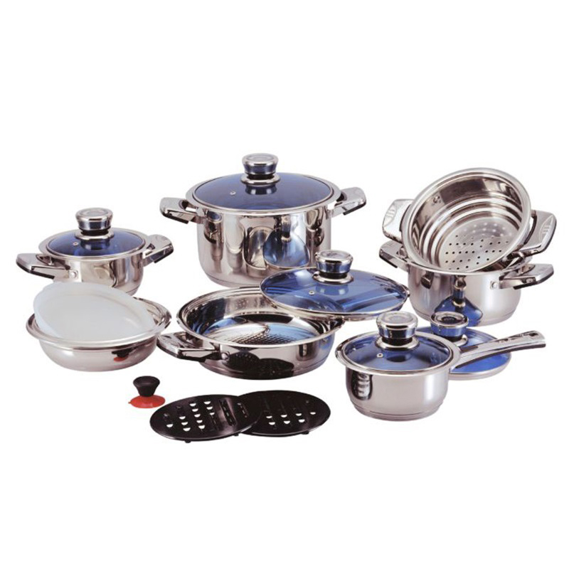China Design Kitchenware Cooking Pot Stock Pot Cookware Sets Colorful Nonstick Cookware Sets Stainless Steel Pan Cookware Set