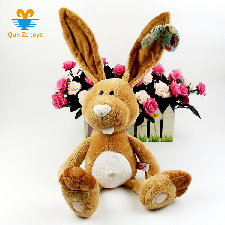 Factory Wholesale yellow long ears <strong>rabbit</strong> stuffed toy soft plush big teeth <strong>rabbit</strong> toy
