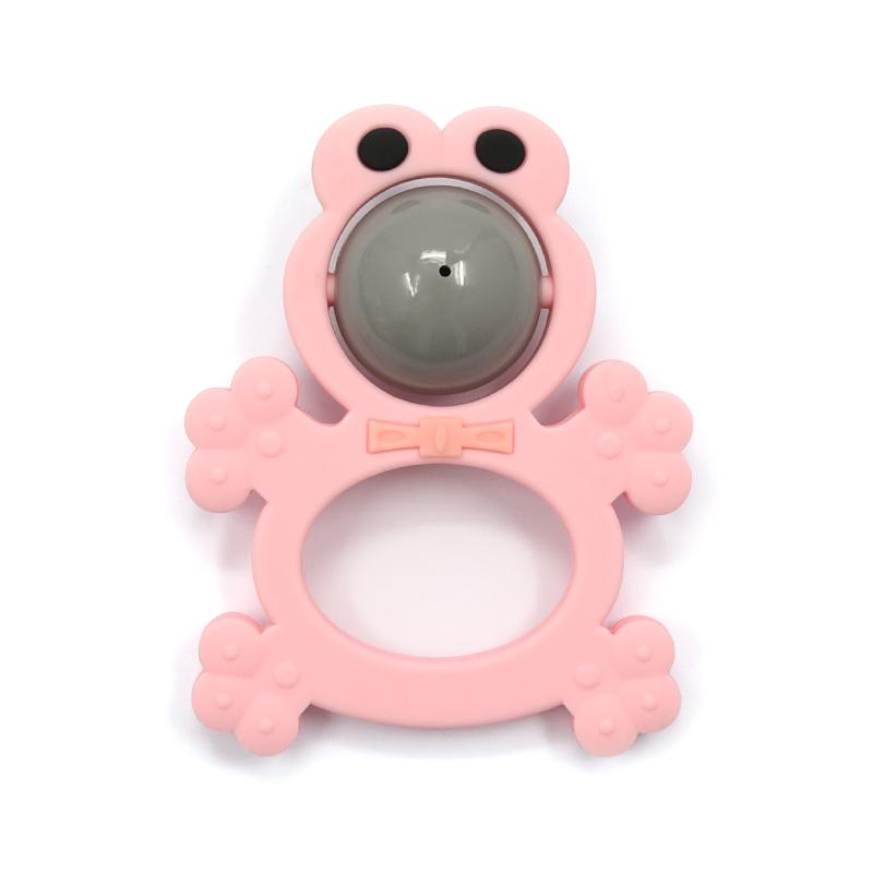 2020 Amazon в форме лягушки мягкие колокольчик силиконовые пластиковые игрушки-Прорезыватели Погремушки Игрушки комплект детский прорезыватель погремушка жевательные игрушки для младенцев