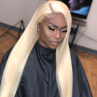Wholesale Brazilian 613 Virgin Human Hair Full Lace Wigs For Black Women,OEM 100% Cheap Natural Blonde Human Hair Wig Lace Front