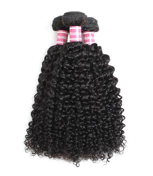10A Brazilian Virgin Hair Kinky Curly Bundles 100% Unprocessed Human Hair Weaves