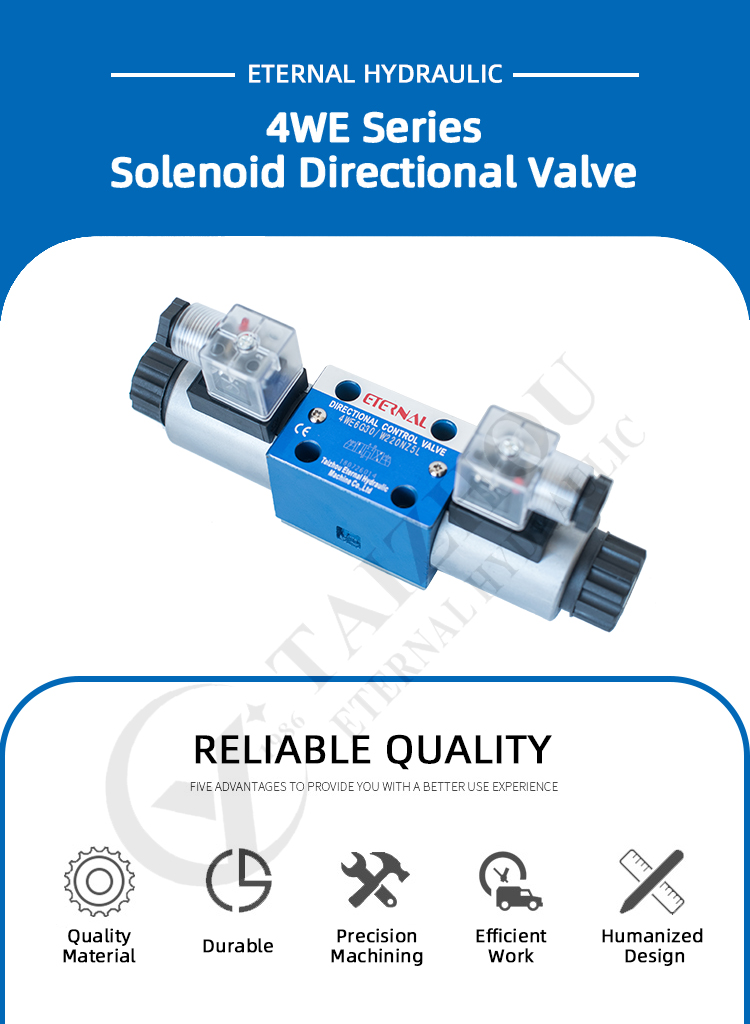Replace Rexroth Type 4WE Series Hydraulic Oil Valve, 4WE43 4WE4 4WE6 4WE10 Solenoid Directional Control Valve