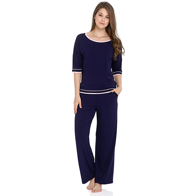 Sıcak pijama üretici ev giyim bambu kadın pijama