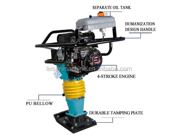 High performance robin tamper rammer gasoline petro soil tammping rammer