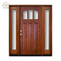 Luxury modern house villa main entrance entry wood glass door with side lite design
