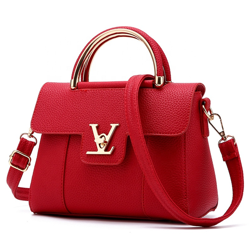 Wholesale branded luxury high quality pu leather women large capacity lady handbags