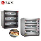 3 deck bakery Guangzhou Factory bakery equipment prices plastic oven baking tray oven baking sheet machine