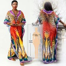 2020 сексуальное летнее пляжное платье свободного покроя с v-образным вырезом и рукавом летучая мышь размера плюс женская пляжная одежда кафт...(Китай)