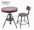 Round Metal Vintage Effect Adjustable Coffee Dining Table Cheap Bar Furniture