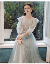 Платье подружки невесты для девочек, длинное элегантное розовое серое платье для выпускного вечера, женские платья 2020, vestido madrinha(Китай)