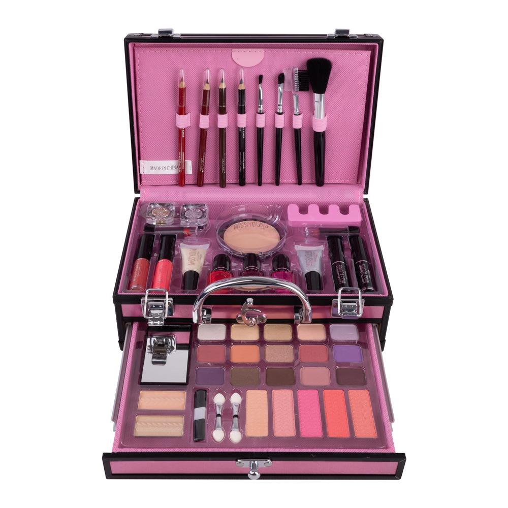 DEENER Professional Nail Polish Liquid Lipstick Blusher Eye Shadow Brush Aluminum Case Sets Packaging Type makeup kit