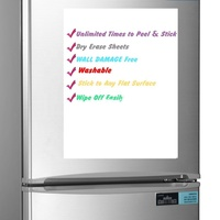 Washable Self Adhesive Dry Erase Sheet Removable Whiteboard Reusable Sticker Notes For Home Or Office