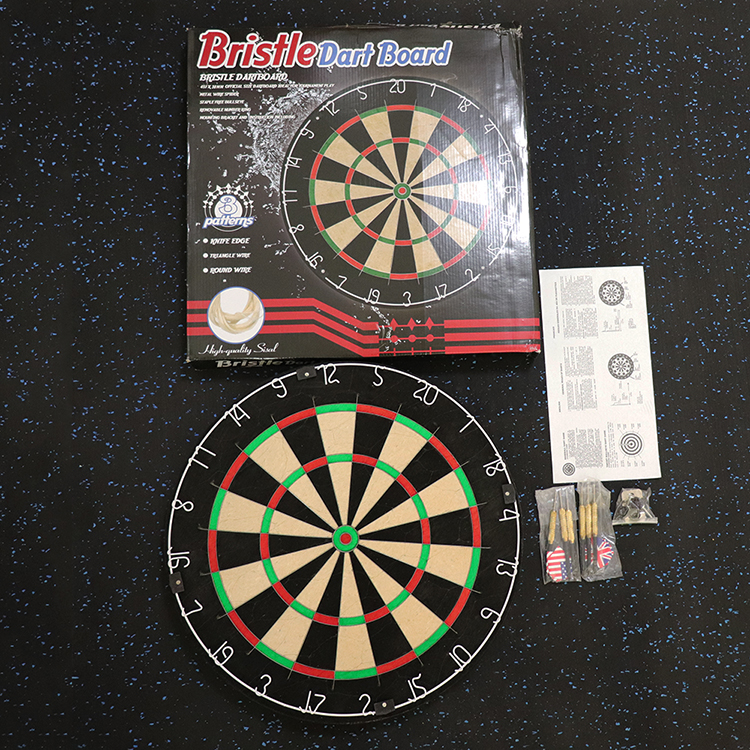 Staple Free Steel Blade Wire Spider Compressed Kenyan Sisal Bristle Dartboard For Tournament and Advanced Players