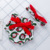 christmas pet pattern clothes baby christmas man with halter bow baby bloomer with headband