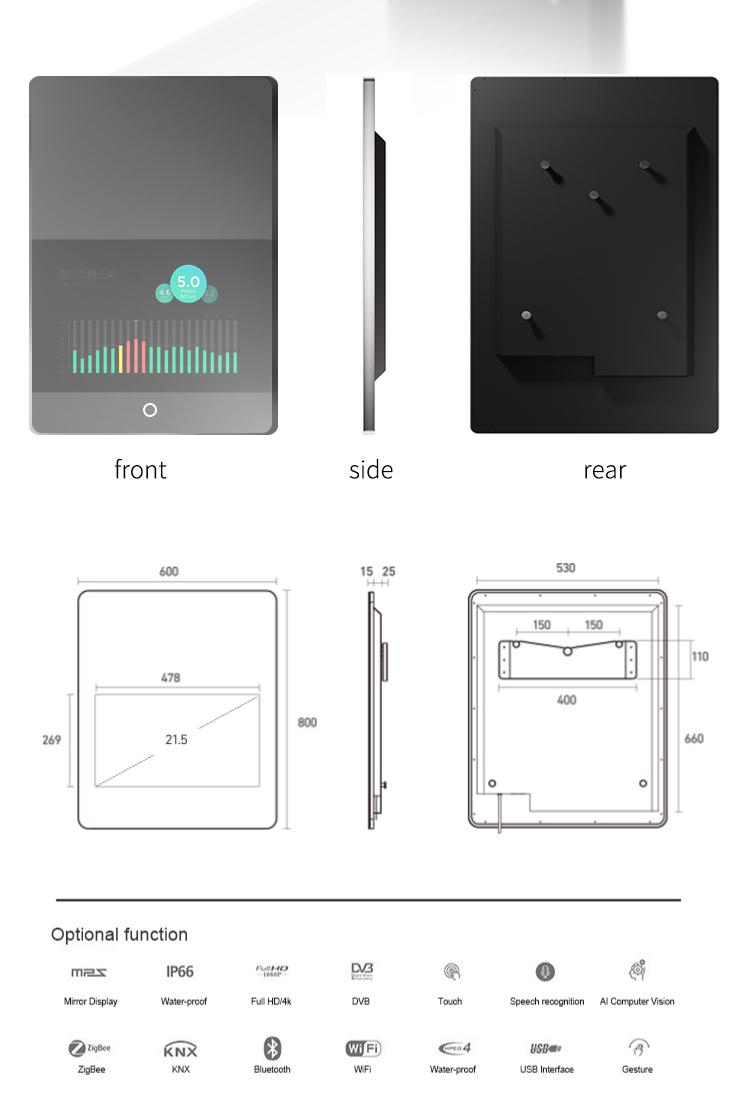 Android Vanity Magia Make Up Sistema Touchscreen Bagno Intelligente Specchio Prezzo