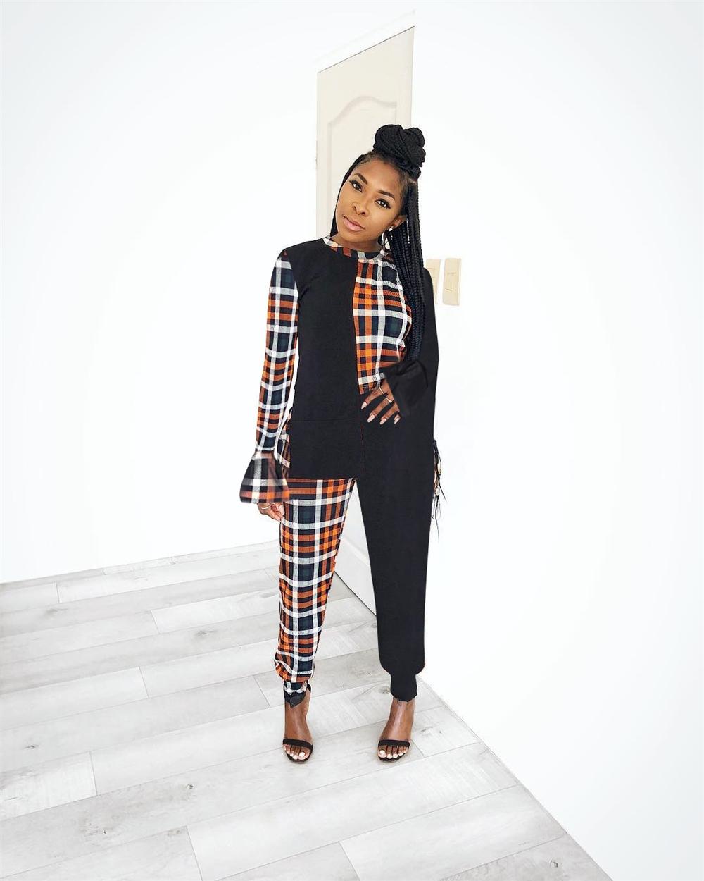 XM-20120713 2021 kadın uzun kollu giyim iki parçalı set