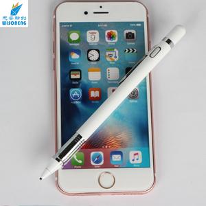 Aluminium Alloy Body Pencil Carbon Fiber Click Stylus Pen With Clip