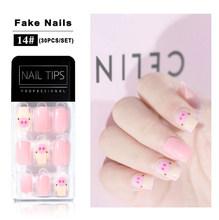 30 шт./компл. поддельные ногти искусство японский стиль ложный пресс на ногти Советы Искусственный Ongle QT0264(Китай)