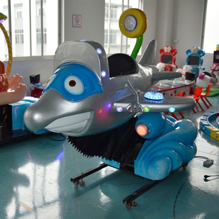 New Kids Swing Animal Machine Coin Operated Dolphin Car For Mall