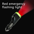 Multi-function 6 in 1 Emergency Tool 12 volt 3.1a USB Car Charger with Led Torch